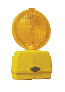 TrafFix Devices 6V LED Photocell Barricade Light Orange Case with Mounting Hardware T42015LED992041 at Pollardwater