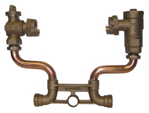 A.Y. McDonald 5/8 x 3/4 x 7 in. Male Meter Resetter with Angle Ball Valve Lead Free M718207WDEFW at Pollardwater