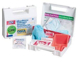 9 in. Bloodborne Pathogen Spill Clean Up Kit 28 Piece L216O at Pollardwater