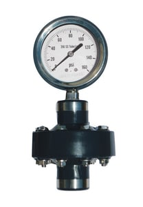 Kodiak Controls 2-1/2 in. 60 psi Chemical Seal Gauge with Teflon and Fluorolube KKC311D25060DSPVCT at Pollardwater
