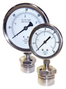 Kodiak Controls 200 psi Stainless Steel Pressure Gauge and Seal Assembly KKC301L25200KCMD17 at Pollardwater