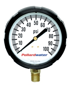 Thuemling Industrial Products 2-1/2 in. 160 psi Bottom Mount Glycerine Pressure Gauge T4107445 at Pollardwater