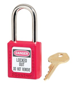 1-1/2 X 3 Safety L/OUT Padlock Red M410LTRED