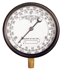 Thuemling Industrial Products 4-1/2 in. 330-600 ft. Well Depth Pressure Gauge TCA567 at Pollardwater