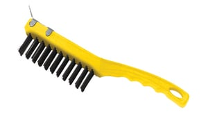 Rubbermaid 14 in. Wire Brush with Scraper RFG9B4400GRAY at Pollardwater