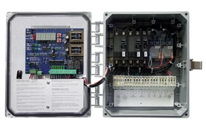 SJE Rhombus EZ Series® 10 in. 120/208/240V 1-Phase Simplex Demand Dose Control Panel SEZS211H10P17G at Pollardwater
