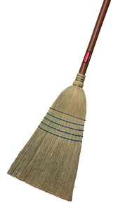 Rubbermaid 56 in. Corn Fiber Bristles Janitor Broom in Blue RFG638300BLUE at Pollardwater