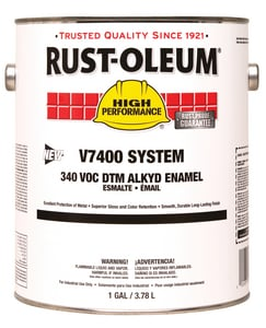 Rust-Oleum® V7400 System 1 Gallon Hydrant Enamel Paint in Safety Yellow R245479 at Pollardwater