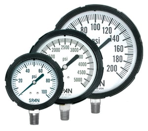 Thuemling Industrial Products Bourdon 4-1/2 in. 15 psi Liquid Filled Pressure Gauge T1572705 at Pollardwater
