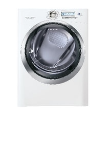 Electrolux Home Products Wave-Touch® 27 in. 8 cf 120/240V 65-Cycle Electric Steam Front Load Dryer in White EEWMED70JIW