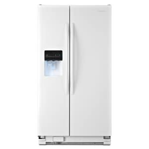 Amana 25.4 cf Side-By-Side Refrigerator with Filter Dispenser in White AASD2575BRW