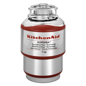 Kitchenaid Superba® 1 hp Continuous Feed Food Waste Disposal in Red KKCDS100T