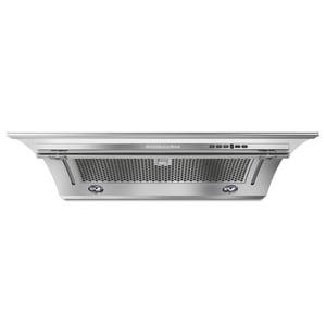 Kitchenaid 30 in. 400 cfm Side Outlet Canopy Hood in Stainless Steel KKXU28YSS