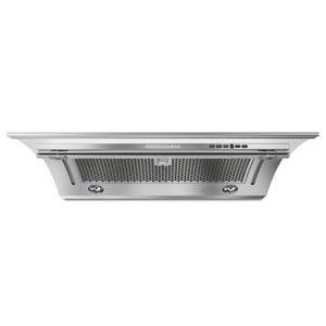Kitchenaid 36 in. 400 cfm Side Outlet Canopy Hood in Stainless Steel KKXU2836YSS