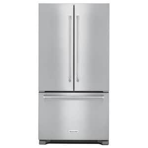 Kitchenaid 16.35 cf Counter Depth French Door Refrigerator with Interior Dispenser in Stainless Steel KKRFC302ESS