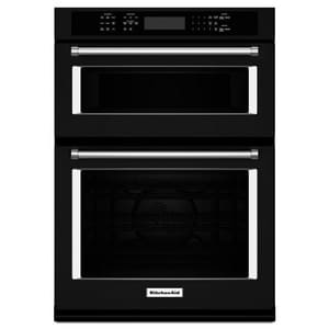 Kitchenaid 27 in. 1600W Built-In Combination Microwave Oven with Convection Lower Oven in Black KKOCE507E