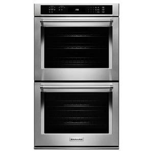 Kitchenaid Even-Heat™ 27 in. Double Electric Wall Oven with Even True Convection in Stainless Steel KKODE307ESS