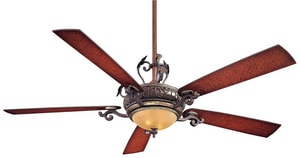Minka-Aire Napoli™ II 5-Blade Ceiling Fan with Halogen Light in Sterling Walnut MF715STW