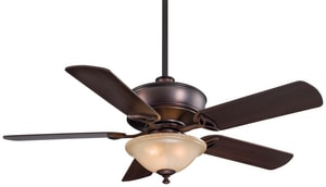 Minka Bolo™ 52 x 20 in. 5-Blade Ceiling Fan with Light in Dark Brushed Bronze MF620DBB