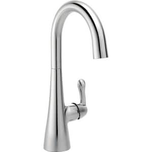 Delta Faucet Transitional 1.5 gpm 1 or 3 Hole Deck Mount Bar Faucet with Single Lever Handle D1953LF