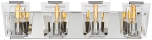 Metropolitan Lighting Fixture Castle Aurora 60W 4-Light Bath Light in Polished Nickel MN2984613