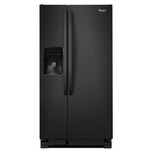 Whirlpool 32-3/4 in. 21.3 cf Side-By-Side Refrigerator with Water Dispenser in Black WWRS342FIAB