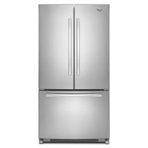 Whirlpool Accu Chill™ 35-5/8 in. 20 cf Temperature Control French Door Refrigerator in Monochromatic Stainless Steel WWRF540CWBM