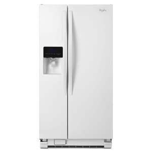Whirlpool 32-3/4 in. 21.3 cf Side-By-Side Refrigerator with Water Dispenser in White WWRS342FIAW