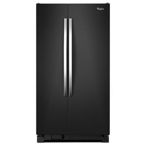 Whirlpool 35-1/2 in. 24.9 cf Freestanding Side-By-Side Refrigerator in Black Ice WWRS325FNAE