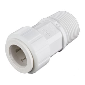 John Guest USA Speedfit® 1/2 x 3/4 in. CTS x MNPT Reducing Polypropylene Single-Packed Union Connector with EPDM O-Ring Seal JPSEI012026P