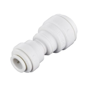 John Guest USA Speedfit® 3/8 x 1/4 in. OD Tube Reducing Polypropylene Bulkhead Union Connector with EPDM O-Ring Seal JPP201208W
