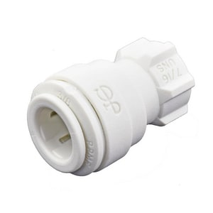 John Guest USA Speedfit® 3/8 x 7/16 in. OD Tube x UNS Reducing Polypropylene Bulkhead Union Connector with EPDM O-Ring Seal JPP3212U7W