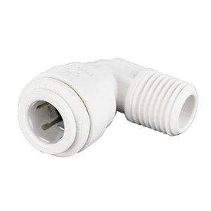 John Guest USA 3/8 in. FNPT Fixed Straight Polypropylene and EPDM 90 Degree Bulk Elbow JPP481223W