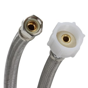 Fluidmaster Pro Series 3/8 in x 7/8 in. x 6 in. Braided Stainless Toilet Flexible Water Connector FPRO1T