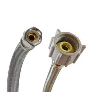 Fluidmaster NoBurst® 3/8 in x 7/8 in. x 16 in. Braided Stainless Toilet Flexible Water Connector FB1T16