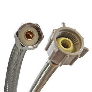 Fluidmaster 3/8 in x 1/2 in. x 12 in. Braided Stainless Toilet Flexible Water Connector FB4T12U