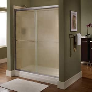 American Standard Euro® 65-1/2 x 24-1/4 x 48 in. Frameless Sliding Shower Door with Clear Glass in Oil Rubbed Bronze AAM00345400224