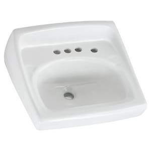 American Standard Lucerne™ Wall Mount Bathroom Sink in White A0355034020