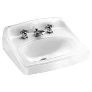 American Standard Lucerne™ Wall Mount Bathroom Sink in White A0356028020