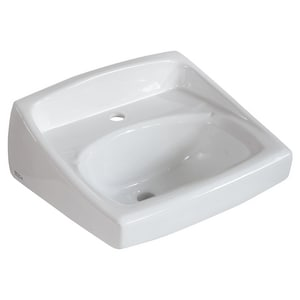 American Standard Lucerne™ Wall Mount Bathroom Sink in White A0356421020