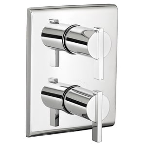 American Standard Times Square® Central Thermostatic Trim Kit with Double Lever Handle in Polished Chrome AT184740002