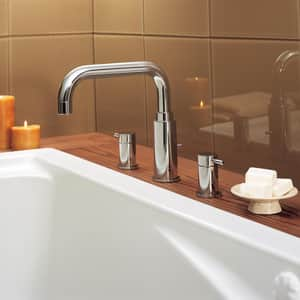 American Standard Serin® Double Lever Handle Roman Tub Faucet in Polished Chrome A2064900002