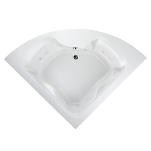 American Standard Cadet® 85 x 60 in. Acrylic Whirlpool Bathtub with Center Drain in White A2775018WC020