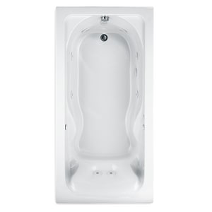 American Standard Cadet® 59-7/8 x 31-3/4 in. Acrylic Whirlpool Bathtub with Reversible Drain in White A2770018W020