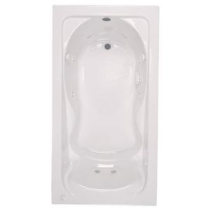 American Standard Cadet® 60 x 36 in. Whirlpool Drop-In Bathtub in White A2771018WC020