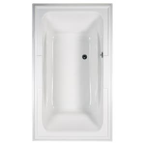 American Standard Town Square® 71-1/2 x 41-3/4 in. Air Bath Drop-In Bathtub with Center Drain in White A2742068C