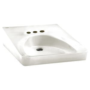 American Standard Wheelchair Vitreous China Wall Mount Lavatory Sink for Wheelchair Users in White A9141011020