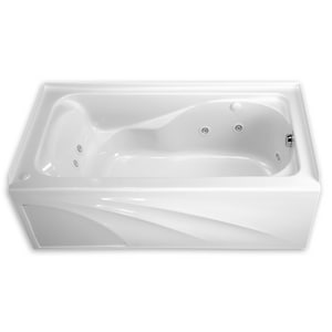 American Standard Cadet® 60 x 32 in. 55 gal 3-Wall Alcove Bathtub with Left Hand Drain in White A2776202020