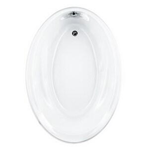 American Standard Savona Oval™ 60 x 42 in. Whirlpool Drop-In Bathtub in White A2903002020