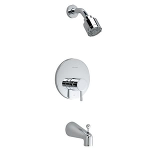 American Standard Serin® Single Handle Multi Function Bathtub & Shower Faucet in Polished Chrome (Trim Only) AT064502002